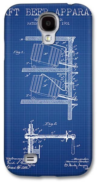 Technical Drawings Galaxy S4 Cases - 1901 Draft Beer Apparatus - Blueprint Galaxy S4 Case by Aged Pixel