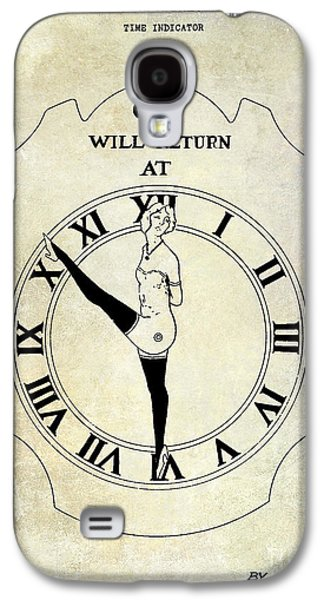 Dancing Girl Galaxy S4 Cases - 1928 Time Indicator Patent  Galaxy S4 Case by Jon Neidert