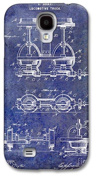 Train Photographs Galaxy S4 Cases - 1902 Locomotive Truck Patent Blue Galaxy S4 Case by Jon Neidert