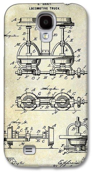 Train Photographs Galaxy S4 Cases - 1902 Locomotive Truck Patent  Galaxy S4 Case by Jon Neidert