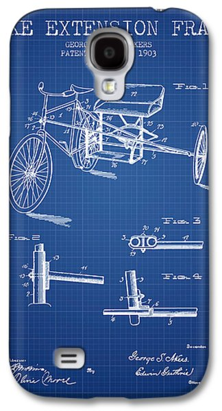 Bike Drawings Galaxy S4 Cases - 1903 Bike Extension Frame Patent - blueprint Galaxy S4 Case by Aged Pixel