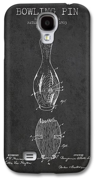 Carpet Drawings Galaxy S4 Cases - 1903 Bowling Pin Patent - Charcoal Galaxy S4 Case by Aged Pixel