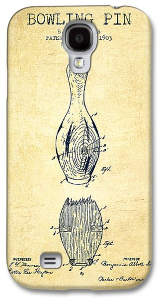 Carpet Drawings Galaxy S4 Cases - 1903 Bowling Pin Patent - Vintage Galaxy S4 Case by Aged Pixel