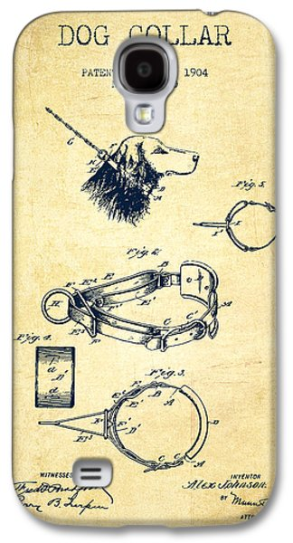 Puppy Drawings Galaxy S4 Cases - 1904 Dog Collar Patent - Vintage Galaxy S4 Case by Aged Pixel