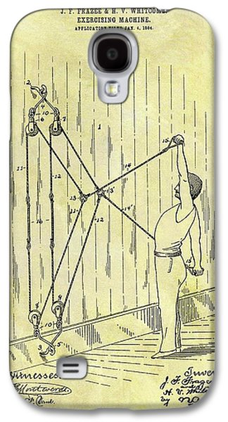 1904 Exercising Machine Patent Galaxy S4 Case by Dan Sproul