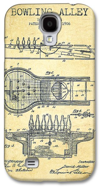 Carpet Drawings Galaxy S4 Cases - 1906 Bowling Alley Patent - Vintage Galaxy S4 Case by Aged Pixel