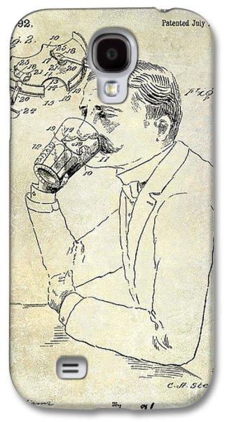 Mustache Galaxy S4 Cases - 1909 Mustache Guard Patent Galaxy S4 Case by Jon Neidert