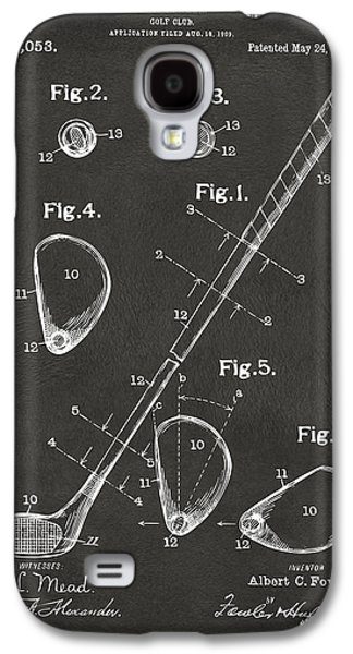 Concept Drawings Galaxy S4 Cases - 1910 Golf Club Patent Artwork - Gray Galaxy S4 Case by Nikki Marie Smith