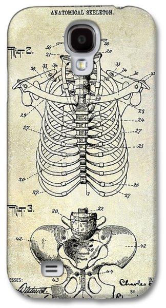 Skeleton Galaxy S4 Cases - 1911 Anatomical Skeleton Patent  Galaxy S4 Case by Jon Neidert