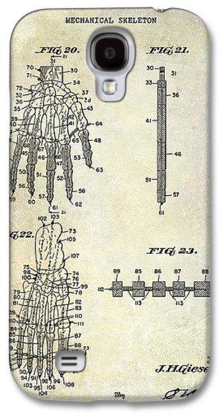 Skeleton Galaxy S4 Cases - 1911 Mechanical Skeleton Patent Galaxy S4 Case by Jon Neidert