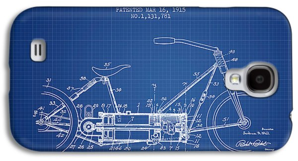 Bike Drawings Galaxy S4 Cases - 1915 Motor Vehicle Patent - blueprint Galaxy S4 Case by Aged Pixel