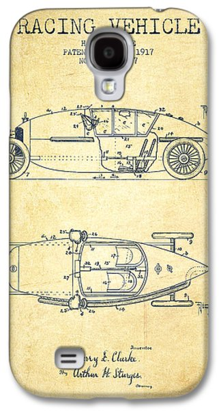 Old Car Drawings Galaxy S4 Cases - 1917 Racing Vehicle Patent - Vintage Galaxy S4 Case by Aged Pixel