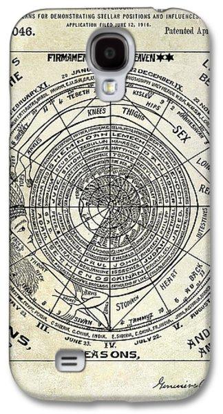 Astrology Galaxy S4 Cases - 1919 Astrology Patent Galaxy S4 Case by Jon Neidert