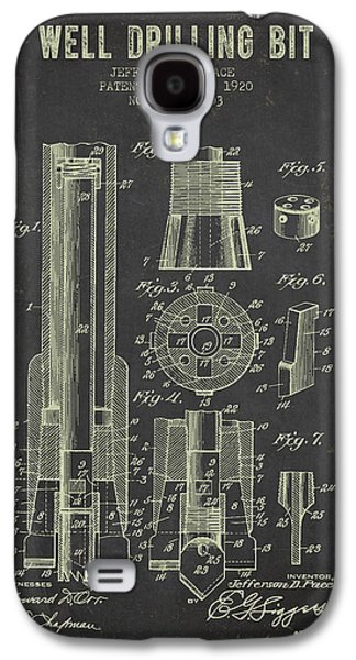 Recently Sold -  - Drawing Galaxy S4 Cases - 1920 Well Drilling Bit Patent - Dark Grunge Galaxy S4 Case by Aged Pixel