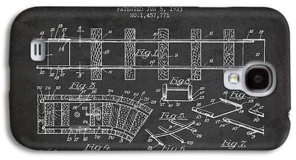 Technical Drawings Galaxy S4 Cases - 1923 Toy Railway Patent - Charcoal Galaxy S4 Case by Aged Pixel