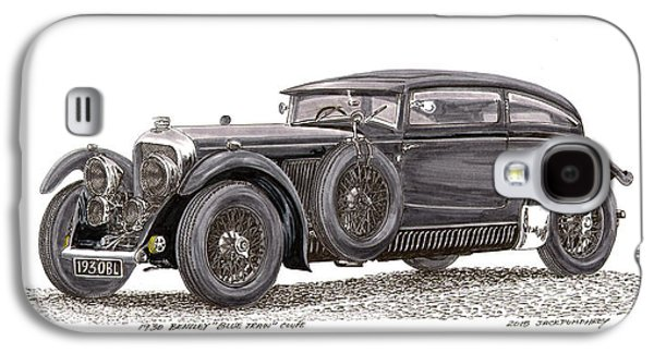 Machinery Drawings Galaxy S4 Cases - 1930 Bentley Blue Train Coupe Galaxy S4 Case by Jack Pumphrey
