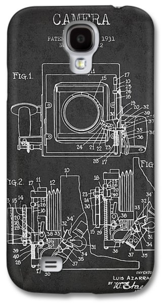 Decor Drawings Galaxy S4 Cases - 1931 Camera Patent - Charcoal Galaxy S4 Case by Aged Pixel