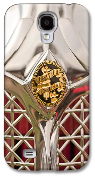 Elegance Photographs Galaxy S4 Cases - 1931 Chrysler CG Imperial LeBaron Roadster Grille Emblem Galaxy S4 Case by Jill Reger
