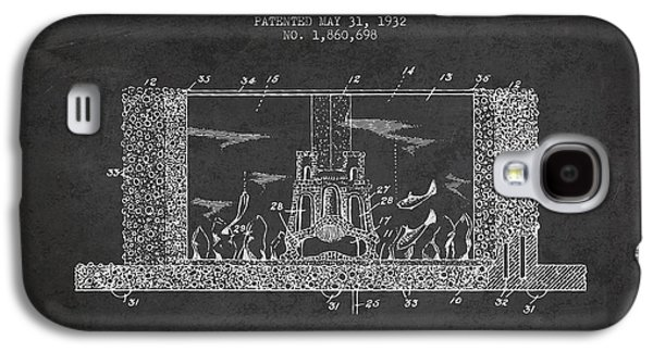 Aquarium Fish Galaxy S4 Cases - 1932 Aquarium Patent - charcoal Galaxy S4 Case by Aged Pixel