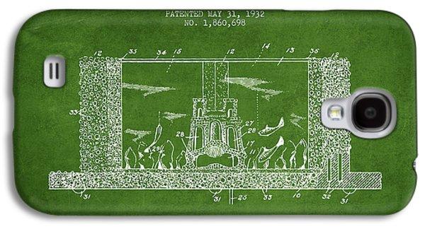 Aquarium Fish Galaxy S4 Cases - 1932 Aquarium Patent - Green Galaxy S4 Case by Aged Pixel