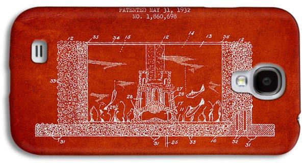 Aquarium Fish Galaxy S4 Cases - 1932 Aquarium Patent - red Galaxy S4 Case by Aged Pixel