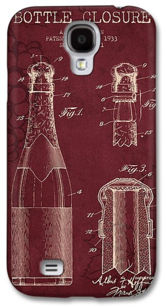 Wine Grapes Galaxy S4 Cases - 1933 Bottle Closure patent - Red Wine Galaxy S4 Case by Aged Pixel