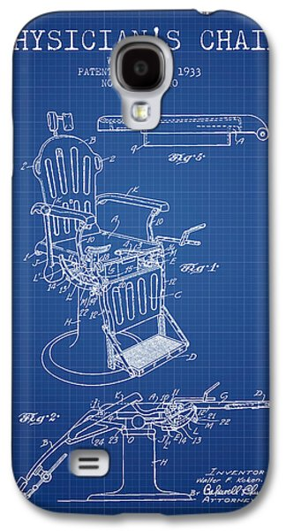Chair Drawings Galaxy S4 Cases - 1933 Physicians chair patent - Blueprint Galaxy S4 Case by Aged Pixel