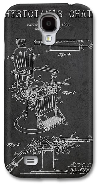 Chair Drawings Galaxy S4 Cases - 1933 Physicians chair patent - Charcoal Galaxy S4 Case by Aged Pixel