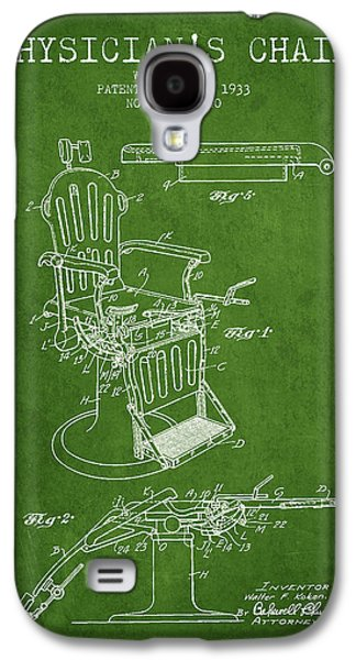 Chair Drawings Galaxy S4 Cases - 1933 Physicians chair patent - Green Galaxy S4 Case by Aged Pixel