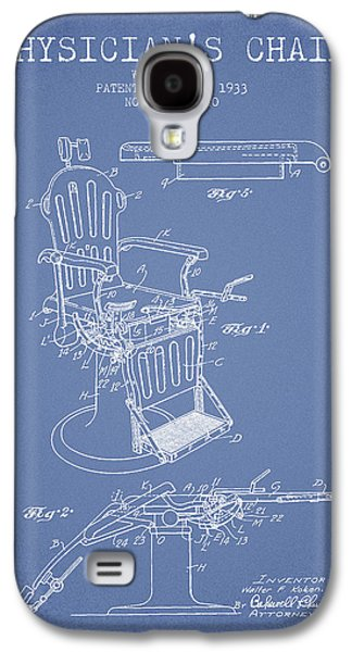 Chair Drawings Galaxy S4 Cases - 1933 Physicians chair patent - Light Blue Galaxy S4 Case by Aged Pixel