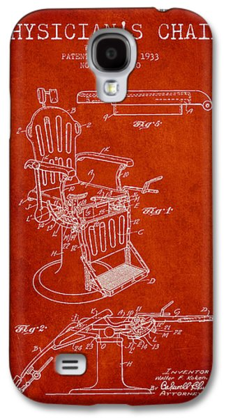 Chair Drawings Galaxy S4 Cases - 1933 Physicians chair patent - Red Galaxy S4 Case by Aged Pixel
