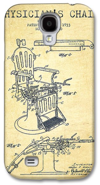 Chair Drawings Galaxy S4 Cases - 1933 Physicians chair patent - Vintage Galaxy S4 Case by Aged Pixel