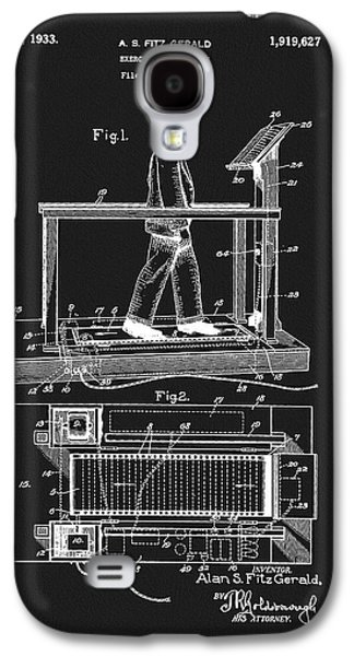 1933 Treadmill Patent Galaxy S4 Case by Dan Sproul