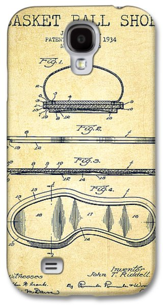 1934 Basket Ball Shoe Patent - Vintage Galaxy S4 Case by Aged Pixel