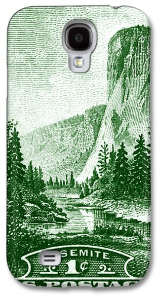 El Capitan Paintings Galaxy S4 Cases - 1934 Yosemite Park Stamp Galaxy S4 Case by Historic Image
