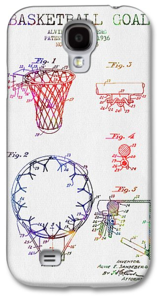 1936 Basketball Goal Patent - Color Galaxy S4 Case by Aged Pixel