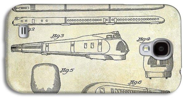 Train Photographs Galaxy S4 Cases - 1936 Train Patent  Galaxy S4 Case by Jon Neidert