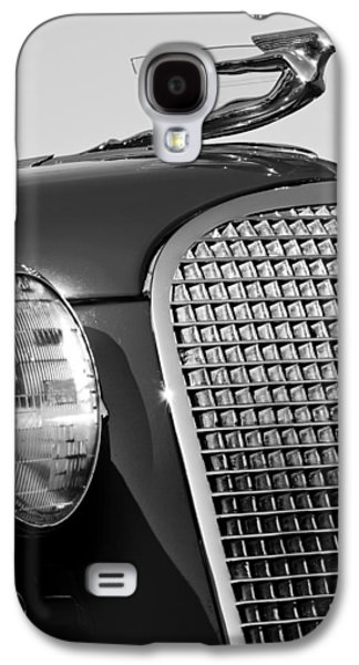 Collector Hood Ornament Galaxy S4 Cases - 1937 Cadillac V8 Hood Ornament 3 Galaxy S4 Case by Jill Reger