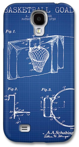 Slam Galaxy S4 Cases - 1938 Basketball Goal Patent - Blueprint Galaxy S4 Case by Aged Pixel
