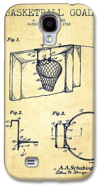 1938 Basketball Goal Patent - Vintage Galaxy S4 Case by Aged Pixel