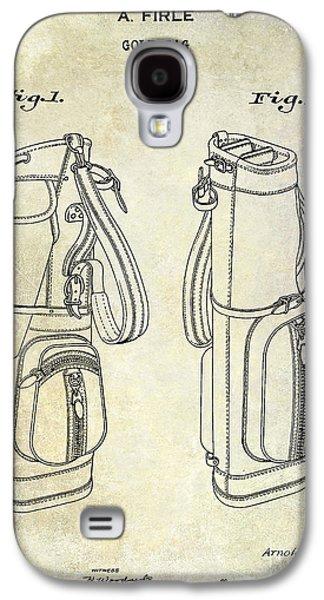 Golf Club Photographs Galaxy S4 Cases - 1938 Golf Bag Patent Galaxy S4 Case by Jon Neidert