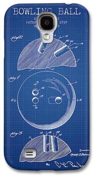 Carpet Drawings Galaxy S4 Cases - 1939 Bowling Ball Patent - Blueprint Galaxy S4 Case by Aged Pixel