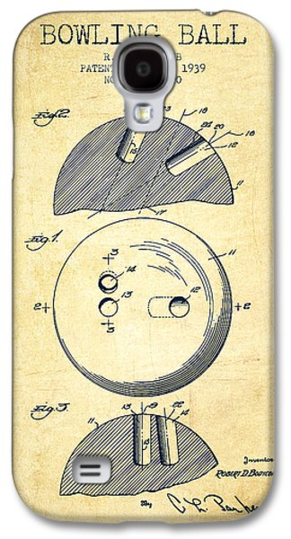 Carpet Drawings Galaxy S4 Cases - 1939 Bowling Ball Patent - Vintage Galaxy S4 Case by Aged Pixel