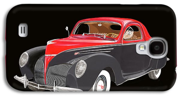 Plans Paintings Galaxy S4 Cases - 1939 Lincoln Zephyr Coupe Galaxy S4 Case by Jack Pumphrey