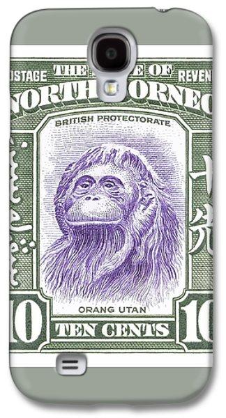 1939 North Borneo Orangutan Stamp Galaxy S4 Case by Retro Graphics