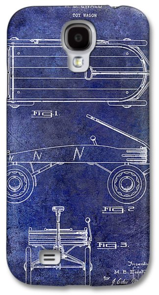 Wagon Photographs Galaxy S4 Cases - 1939 Toy Wagon Patent Blue Galaxy S4 Case by Jon Neidert