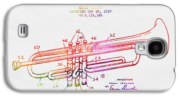 1939 Trumpet Patent - Color Galaxy S4 Case by Aged Pixel
