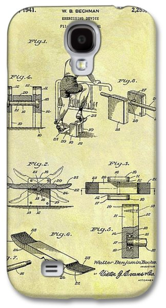 1941 Exercise Machine Patent Galaxy S4 Case by Dan Sproul