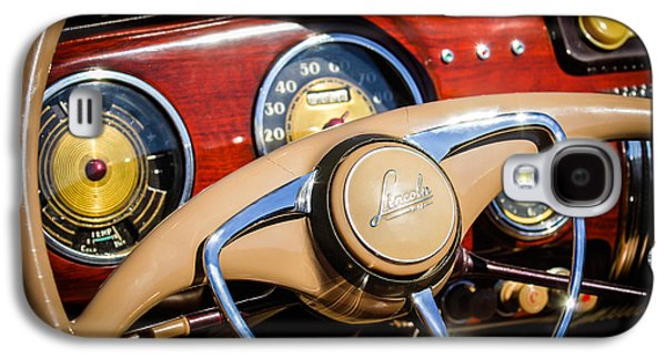 Car Part Photographs Galaxy S4 Cases - 1941 Lincoln Continental Cabriolet V12 Steering Wheel Galaxy S4 Case by Jill Reger