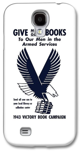 Eagle Mixed Media Galaxy S4 Cases - 1943 Victory Book Campaign Galaxy S4 Case by War Is Hell Store